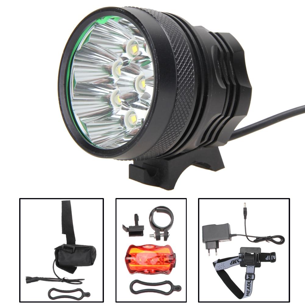 15000Lm 9x XM-L T6 LED Waterproof Olahraga Kepala Lampu Super Terang - Bersepeda