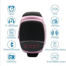 New Wireles Wristband Super Bass Bluetooth Speaker Smart Watch Sports Music Player Call Play FM Radio Self timer Support TF Card