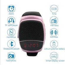 Reloj inteligente deportivo con Bluetooth, pulsera deportiva con altavoz Supergraves, reproductor de música, Radio FM, temporizador automático, compatible con tarjeta TF