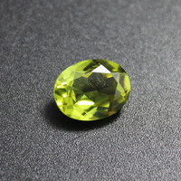 Oval Shape Olivine Stone Peridot Beads For Jewelry Making Chrysolite Loose Gemstones Created DIY Faceted Gemstone