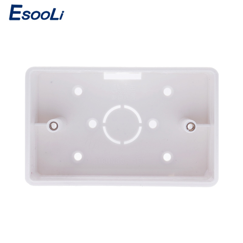 Esooli External Mounting Box 117mm 72mm 33mm for 118 72mm Touch Switch and USB Socket For
