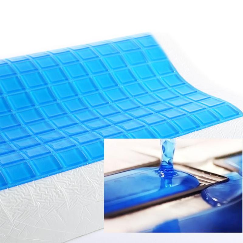 Image 3 - Memory Pillow Foam White Bed Gel Pillow Blue Cooling Orthopedic Cushion for Sleeping Travel Neck Fatigue Relief Outdoor Cushion-in Bedding Pillows from Home & Garden