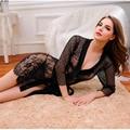 Mulheres Sexy Lady Uniformes Bar Roupas Desempenho Trajes Casais Sexo Marital Gosto Tentações Transparente Vestido de Renda