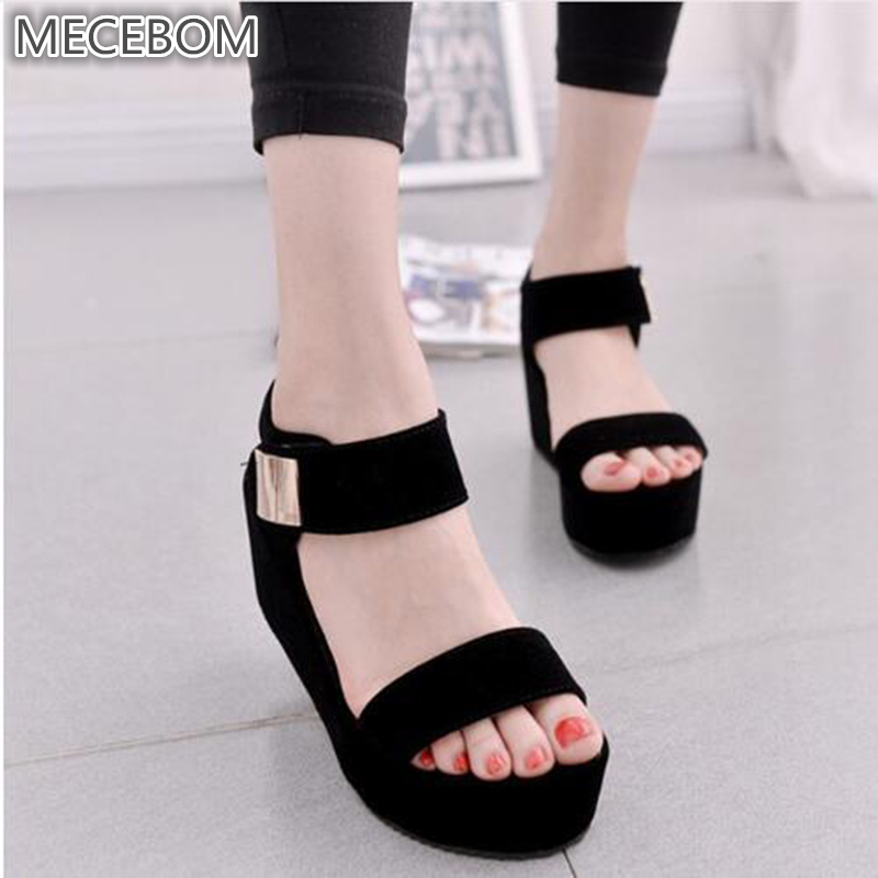 2018 Platform Sandals Shoes Women High Heel wedges Shoes Open Toe Platform Gladiator Trifle Sandals Women Shoes footwear 6406W