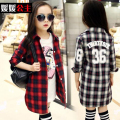 baby girls clothing blouse Free shipping 6 2016 spring clothing 7 female child shirt long-sleeve shirt 10 12 spring clothes 15