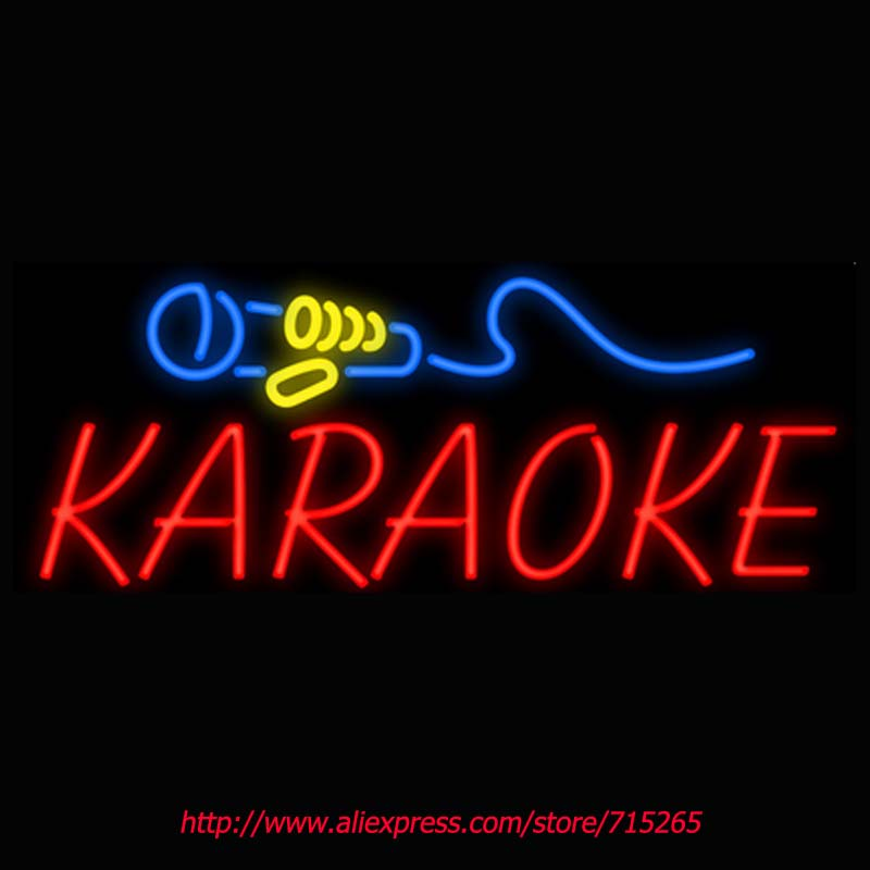 Karaoke Neon Sign Board Neon Bulbs Light Guarage Display Real GlassTube Custom Handcrafted Business Light Decorate Store 30x13