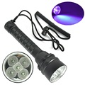 Diving flashlight Diving light 390nm 25W 5 x 5050 UV LED Diving Scuba Flashlight fishing hunting torch Purple Torch