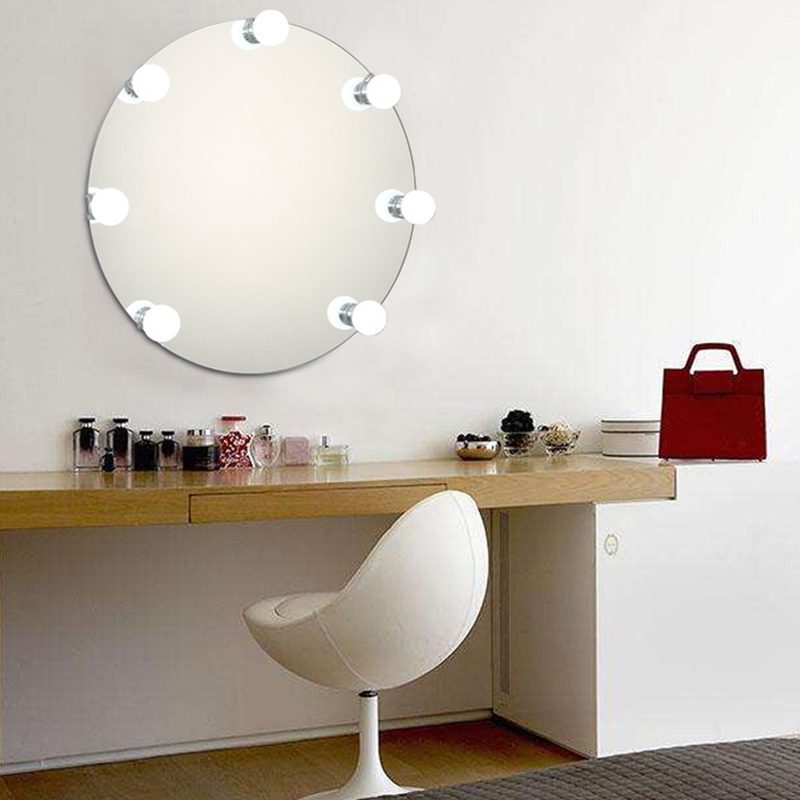 Brand New Vanity Lighted Makeup Mirror Light Kit | 10 Led Bathroom Vanity Light Bulb Fixture Strip Set For Makeup Foundation Lig