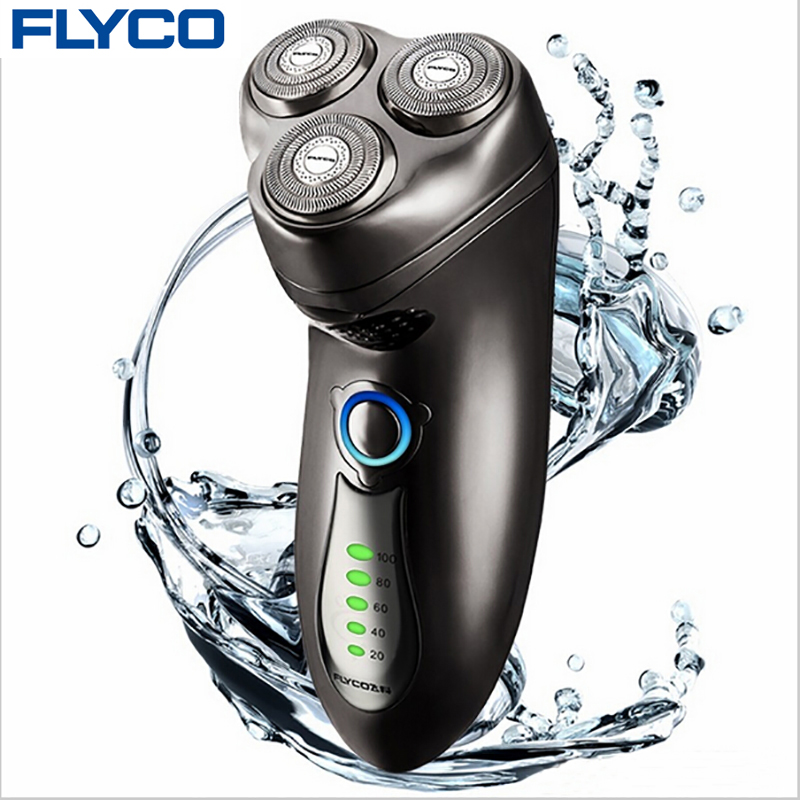ФОТО FLYCO professional Entire Machine washable 1 hour recharge electric shaver for Man with beard knife rechargeable automatic FS351