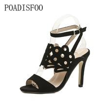 11d551960 POADISFOO 2018 las nuevas mujeres zapatos de mujer de verano de 2018 nuevo  abierto del dedo del pie talla refrescante Sandalias .