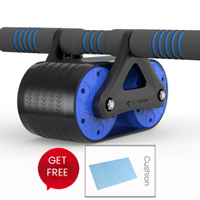 Rebounding abdominal wheel home tank muscle push-ups roller reduction belly bearing leather mute fitness