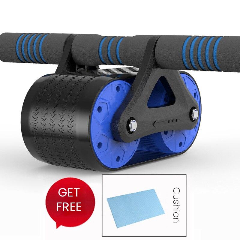 Roue abdominale rebondissante home tank roue musculaire abdominale push-up réduction du rouleau roulement du ventre roue en cuir muet fitness