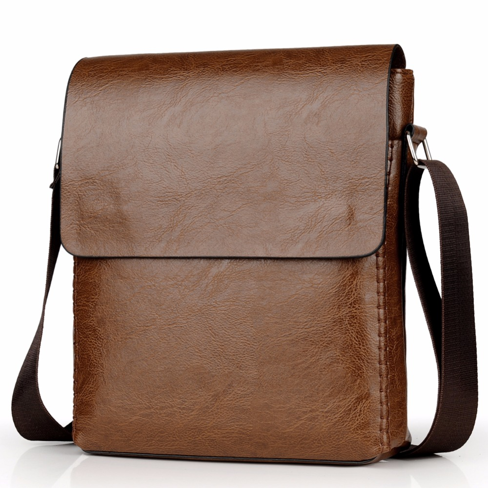 Crossbody Bags For Men Leather Shoulder Bag Male Casual Simple Knitting Messenger Bags High Quality Business Men's Hand Bag 6