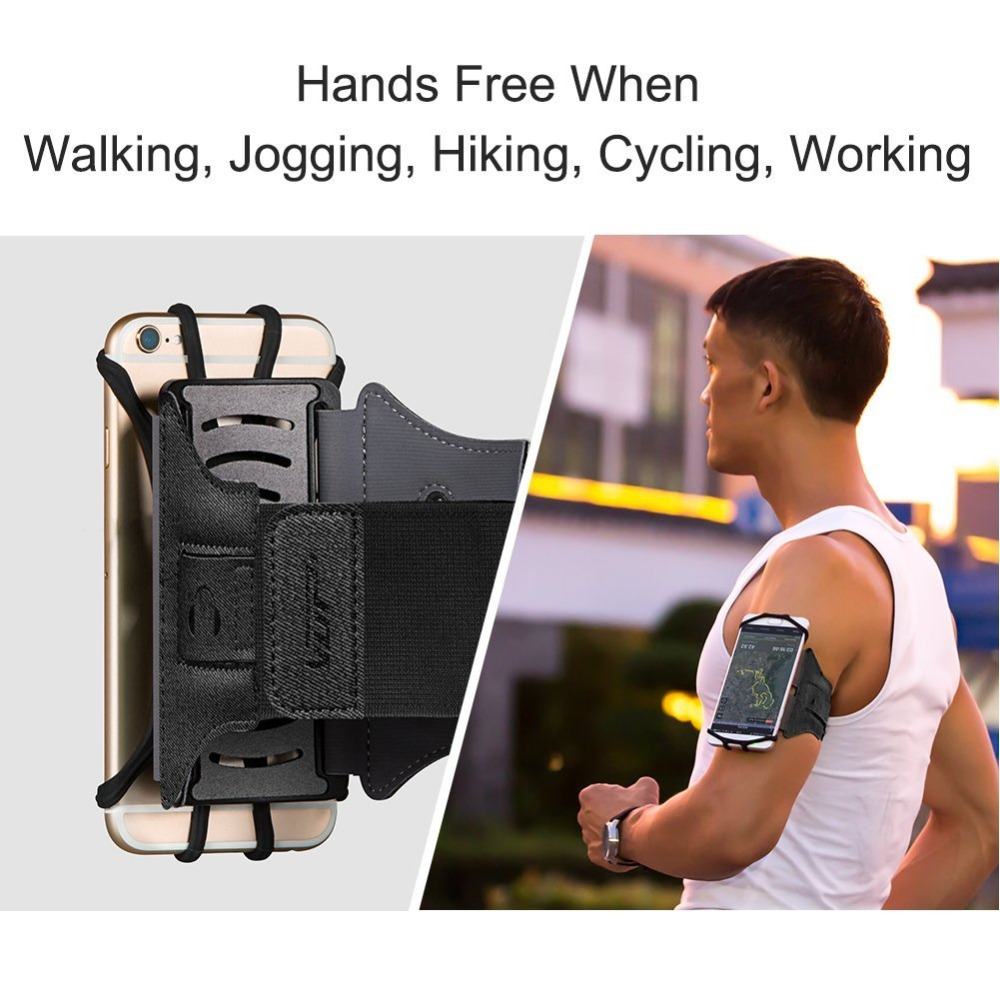 180 Rotatable Running Armband for  X 8 8 Plus 6 6S Galaxy S8 S7 Edge Phone Armband with Key Holder for 4-6 inch Phone