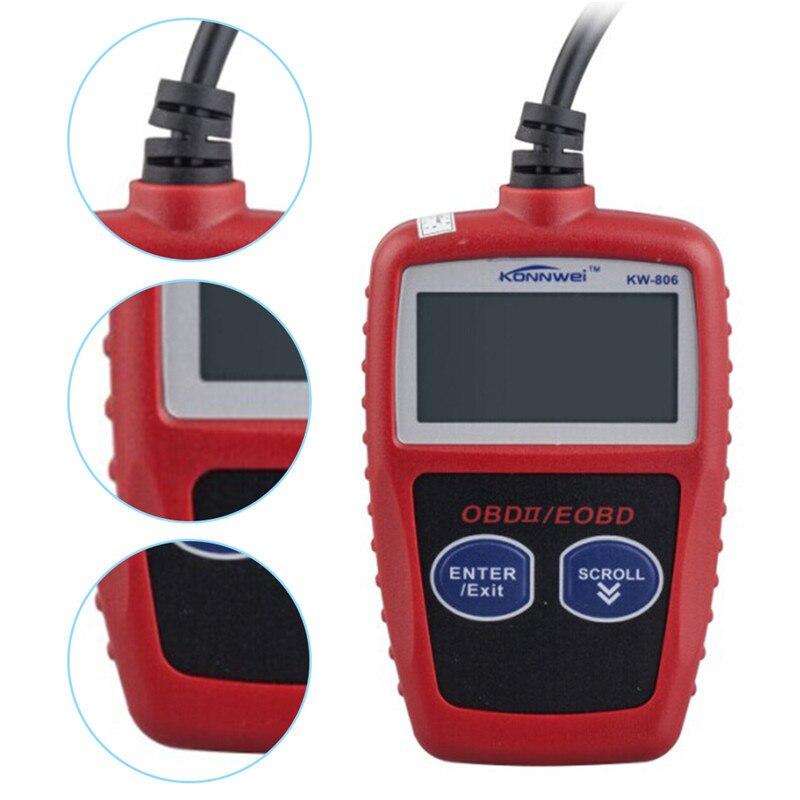 Prix pour KONNWEI KW806 OBD2/EOBD CAN BUS OBD2 Lecteur de Code obd2 OBD II Outil Diagnostique De Voiture Code de Défaut Lecteur De Voiture détecteur Automobile Outil
