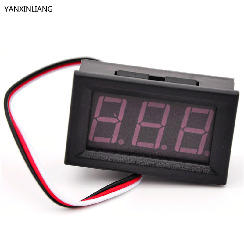 1pcs 2.5-30V (OR 4.5-30V ) DC mini Car Motor Red LED Digital Voltmeter Volt Voltage Panel Meter Hot sale ...