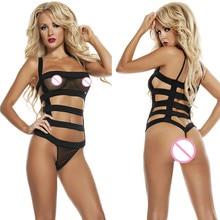 Sex Underwear 2016 New Erotic LingerieFor Women Ropa Sexy Interior Mujer Black Costume Bandage Dessous Bundled Lenceria SLG627