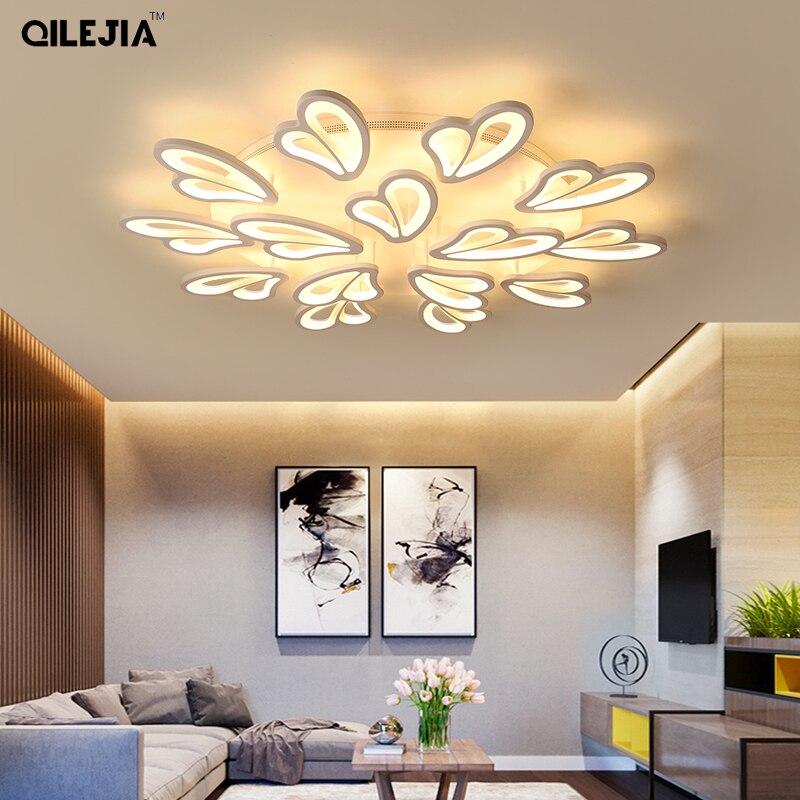 White Frame Modern Led Ceiling Lights For Living Room Bedroom Plafond Led Home Lighting Ceiling Lamp Home Lighting Fixtures Dero Ceiling Lights