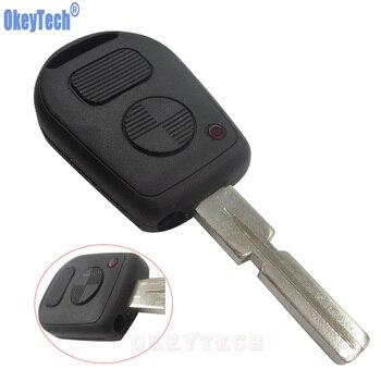 Mando a distancia OkeyTech, reemplazo de carcasa para llave de coche, carcasa para llave de 2 botones, cubierta protectora Fob para BMW E38 E39 E36 Z3, diseño de coche