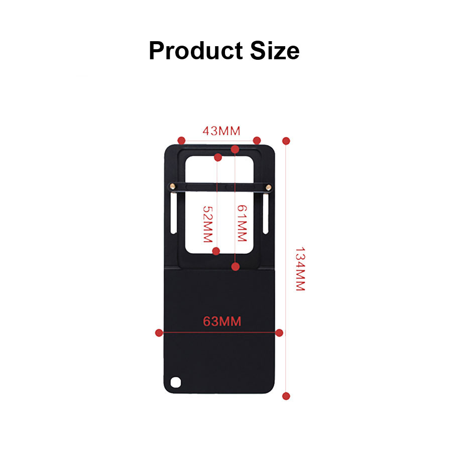 Image 5 - FUNSNAP Aluminum Switch Mount Camera Stabilizer for GoPro Hero 6/5/4 Motion Camera Adapter Plate Handheld Gimbal Accessory-in Gimbal Accessories from Consumer Electronics