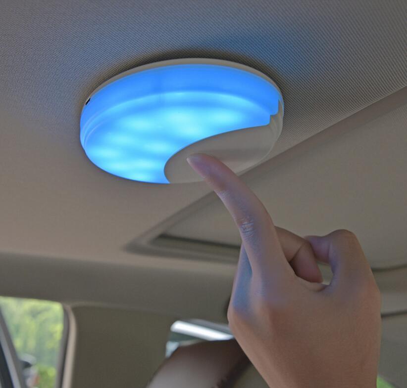 Высококачественная Автомобильная интерьерная Светодиодная лампа для чтения, магнитная Ночная лампа для Toyota LC200 Camry Prado FJ150 FJ120 Corolla Yaris