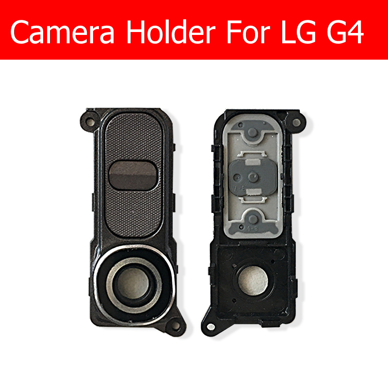 Rear Camera Lens Holder & Glass lens & volume button For LG G4 H818 H819 F500 H815 H810 Rear Camera Glass Lens Cover Replacement image