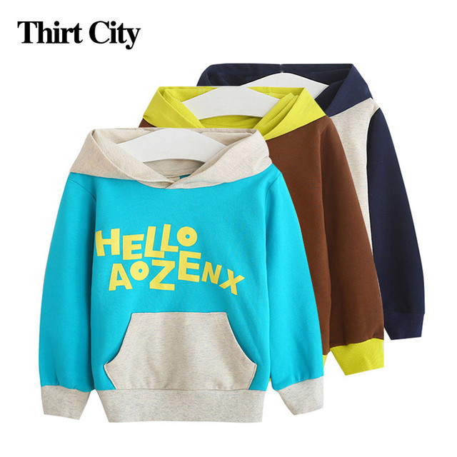 11.11 2016 Cartoon Letter Hoodies Kids Girls Long Sleeve Cotton Thickening Sweatshirt Outerwear Winter Thick Warm Hoodies Jacket