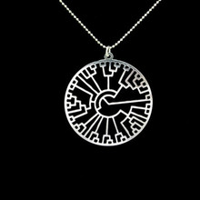 Evolution tree - Phylogenetic tree necklace Tree of life Science silver plated chain
