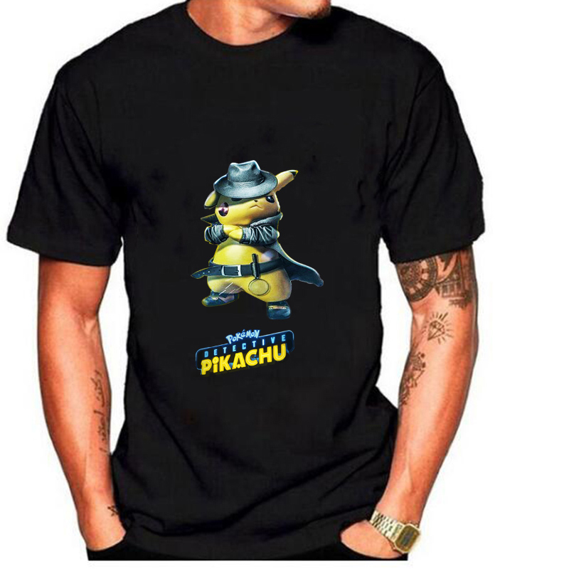 Pokemon <font><b>Detective</b></font> <font><b>Pikachu</b></font> Printed T-shirts Women/Men Fashion Summer Short Sleeve <font><b>Tshirt</b></font> 2019 Casual Streetwear T shirts image