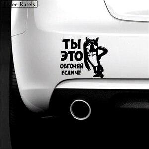 Image 3 - Trois Ratels, autocollants de voiture amusants, décalcomanies, autocollants auto, vous le surprenez, quel dessin animé russe, 15 x TZ 494 cm, 1 à 4 pièces, 12.97