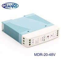 MDR-20 12V 5V 15V 24V 36V 48V 20W Din Rail power supply ac-dc driver AC/DC voltage LED strip 110V 220V laboratory power supply