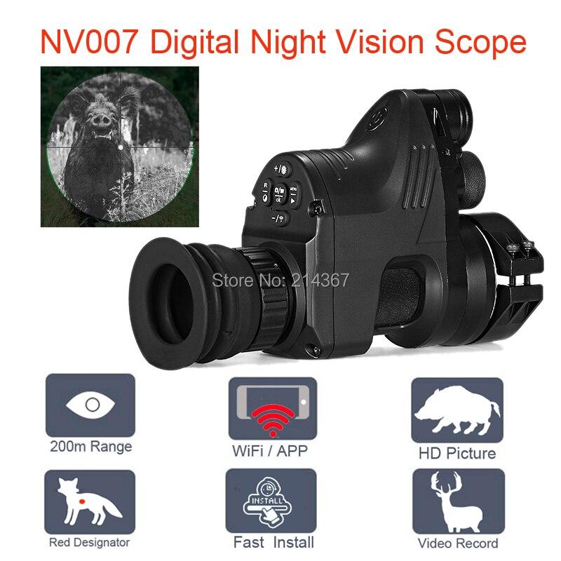 PARD NV007 5W IR Infrared Digital Night Vision Telescope Wifi APP 1080P HD NV Riflescope Night Vision Optics Sight Hot Sales цена