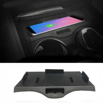 Car QI wireless charging phone charger charging case center console phone holder for BMW 5 6 Series F10 G30 G38 GT for iPhone 8 - DISCOUNT ITEM  17% OFF All Category