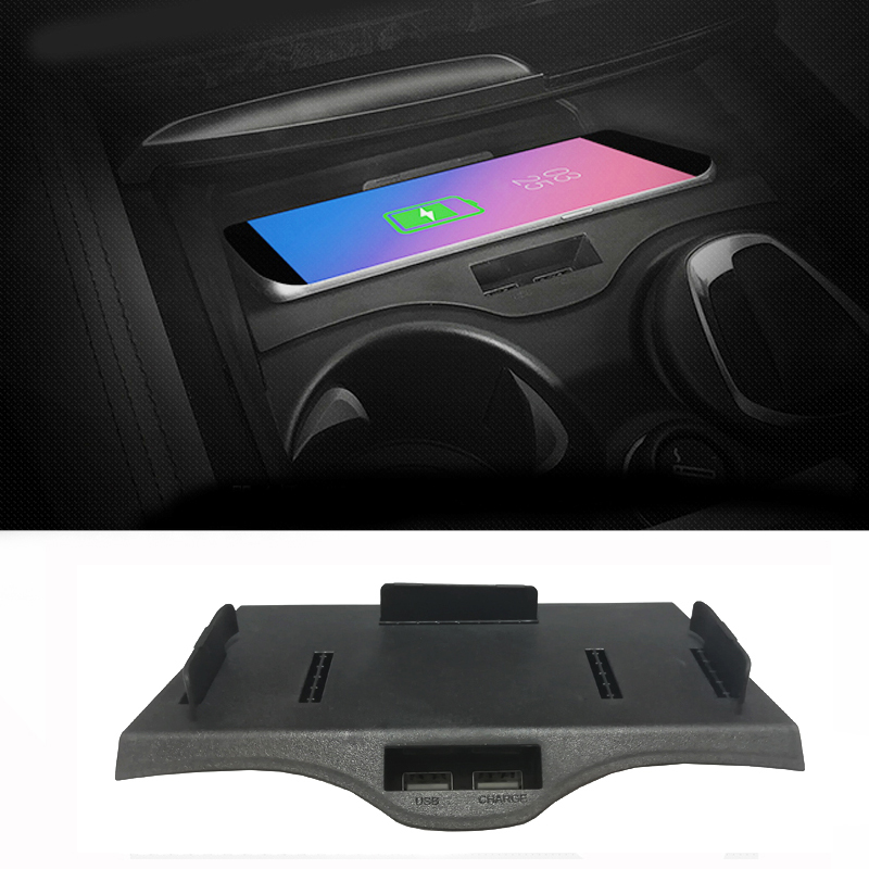 Car QI wireless charging phone charger charging <font><b>case</b></font> center console phone holder <font><b>for</b></font> <font><b>BMW</b></font> 5 6 Series F10 G30 G38 GT <font><b>for</b></font> <font><b>iPhone</b></font> <font><b>8</b></font> image