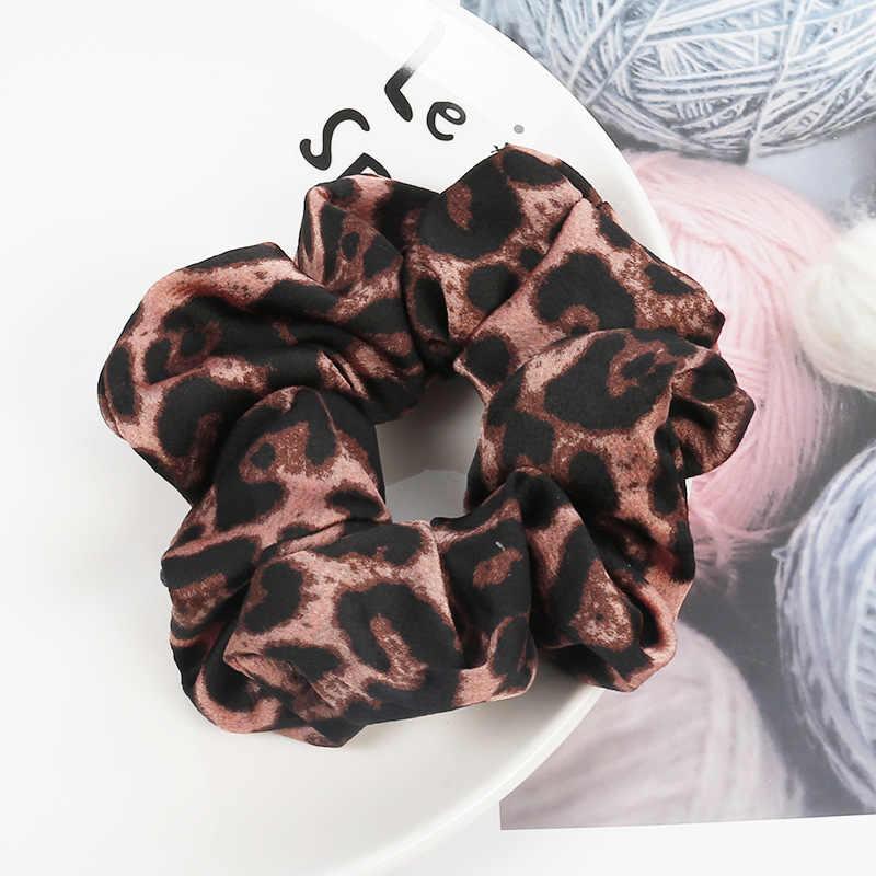 6 Warna Kain Fashion Leopard Print Scrunchies Aksesoris Rambut untuk Wanita Elastis Rambut Band Girls Elegan Ekor Kuda Rambut Dasi