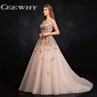 CEEWHY Peacock Sequined Evening Dress Court Train Wedding Party Mother of the Bride Dress Crystal Evening Gowns Abendkleider