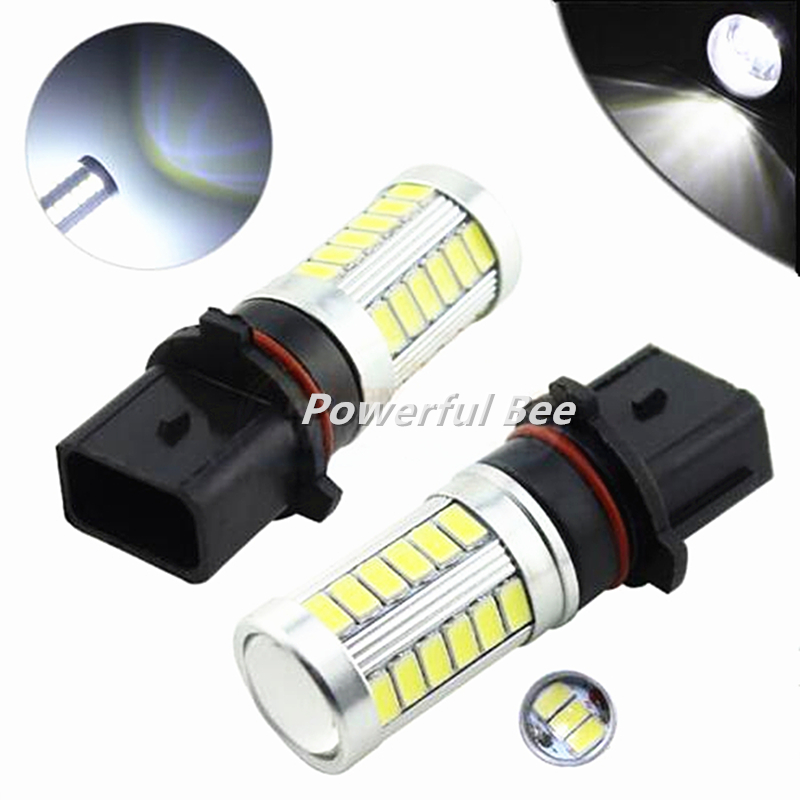 2 x Car p13w 15W power led fog lights cold white yellow amber 33SMD daytime running lights DRL bulb for Chevrolet  Camaro meziere wp101b sbc billet elec w p