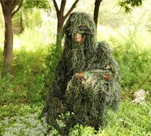 New Forest Design Camouflage Ghillie Suit grass type hunting clothing,yowie Sniper 3D bionic camouflage suit Free shipping