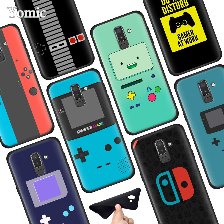 Game Boy Game Box Print Silicone Phone Case For Samsung Galaxy J8 J6 J4 Plus 2018 A50 A70 A80 S10 Plus S10e Case Cover