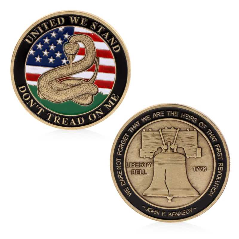 United We Stand Commemorative Uitdaging Coin Collectible Collectie Craft Gift AUG-6A