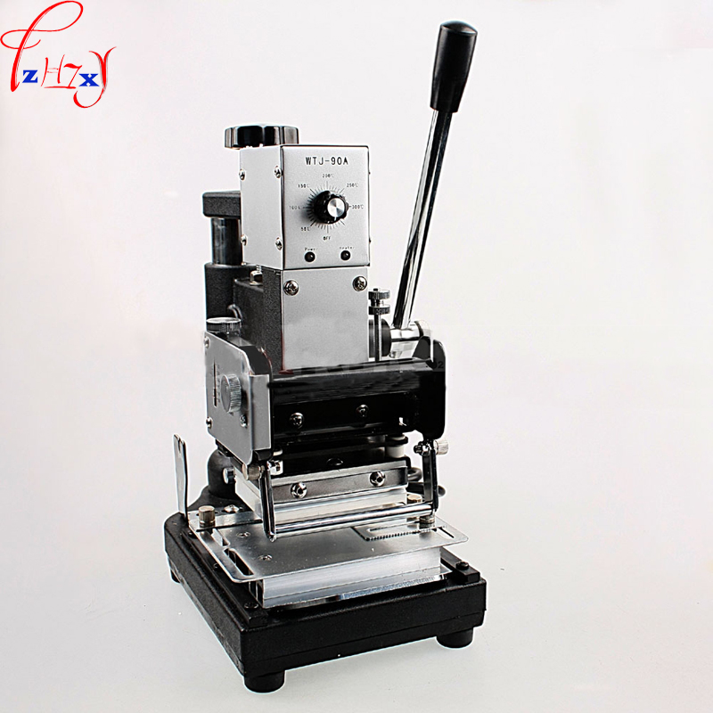 WTJ 90A manual membership card bronzing machine stainless steel PVC membership card bronzing machine 220V 1PC machine machine machine manual machine card - title=