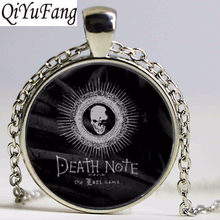QiYuFang Anime Death Note Pendant Necklace Jewelry Black Death Book Chain Free Shipping Gift Men Necklaces Women(China)
