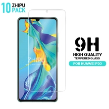 10 Pcs Tempered Glass For Huawei P30 Screen Protector 2.5D 9H Premium 6.1 Protective Film