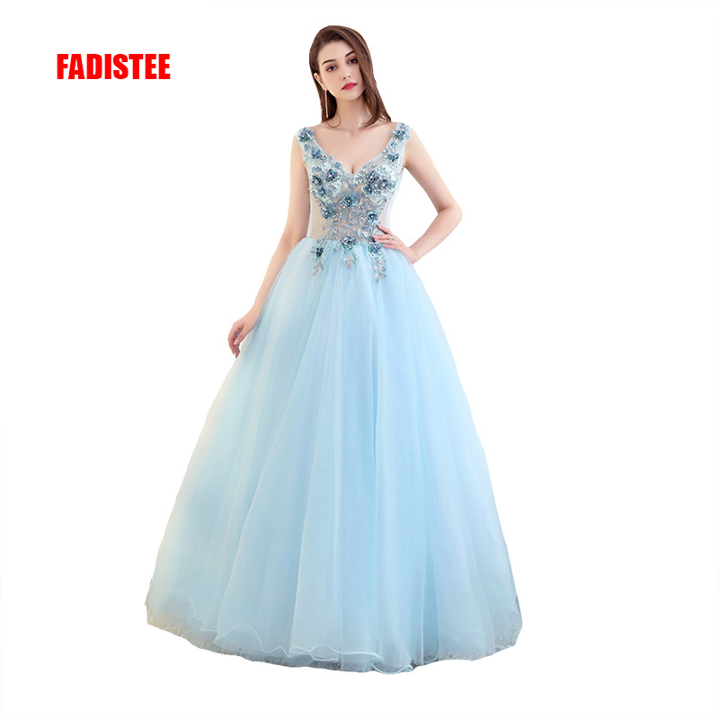 Vestido De Noiva 2017 New Elegant Lace Applique Tulle: FADISTEE 2017 New Arrive Party Prom Dress Vestido De Festa