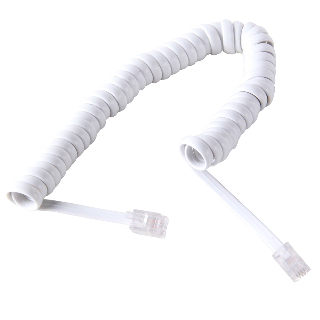 GJ11 handset cord Belt Crystal Wrapped Finish for telephone receiver White