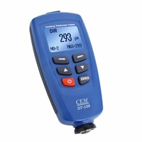 Digital CEM Paint Coating Thickness Meter Gauge 1250um (49.2mils) F/ NF Probe Sensor, 400 Memory with USB & CD Software