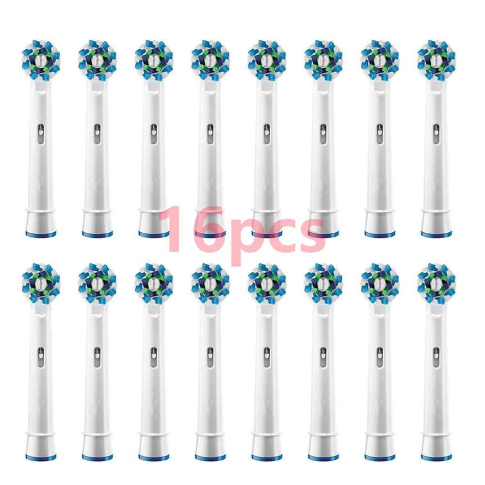16PCS Electric toothbrush heads Compatible for Braun Oral b Replacement Brush Heads for Oral-B Tooth Brush Vitality Dual Clean