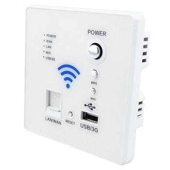 Free shipping WIFI USB Socket best price White color  Wall Outlet Power Outlet internet socket