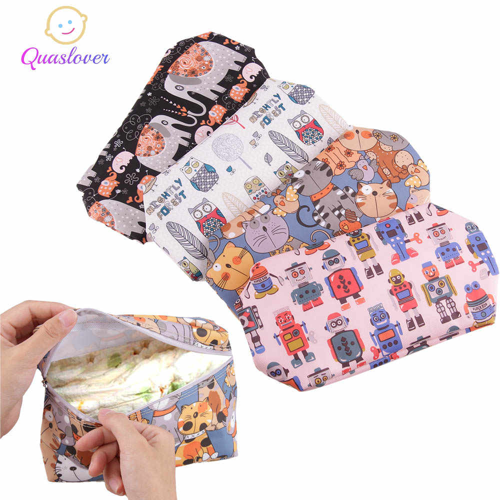 Quaslover Mini Baby Diaper Bags Diaper Baby Stroller Bag  For Outdoor Travel Wetbags Backpack Wet Dry Diaper Organizer Bag