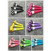 6 шт., 7 цветов, вечерние свистки в горошек, украшения для дня рождения, товары для украшения, игрушки Noicemaker, сумки для игрушек Pinata